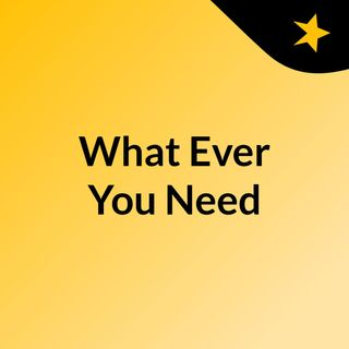 Episode 3 - What Ever You Need