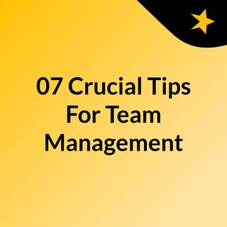 07 Crucial Tips For An Effective Team Management