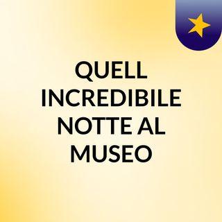 QUELL' INCREDIBILE NOTTE AL MUSEO