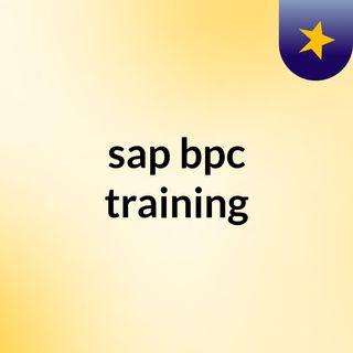 sap bpc training