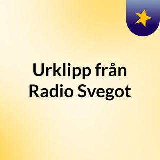 Urklipp från Radio Svegot