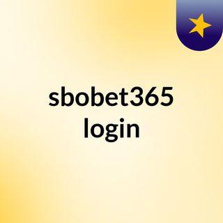 sbobet365 login