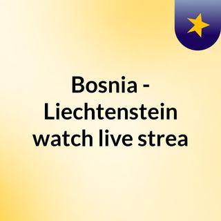 Bosnia - Liechtenstein watch live strea