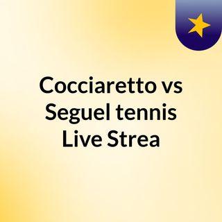 Cocciaretto vs Seguel tennis Live Strea