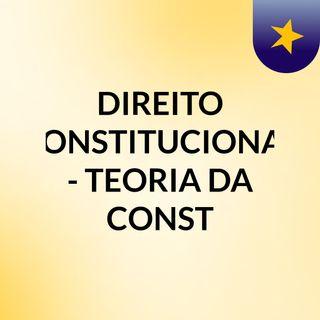 CF - TEORIA DA CONST - SENTIDOS DA CONST