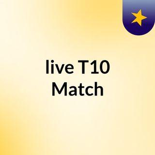 live T10 Match