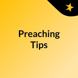Looking at the audience while preaching