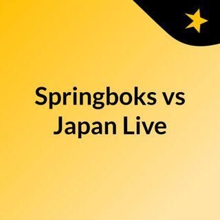 Springboks vs Japan Live