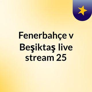 Fenerbahçe v Beşiktaş live stream 25