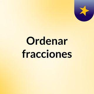 Ordenar fracciones