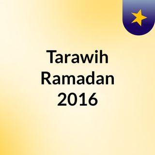 Tarawih Ramadan 2016