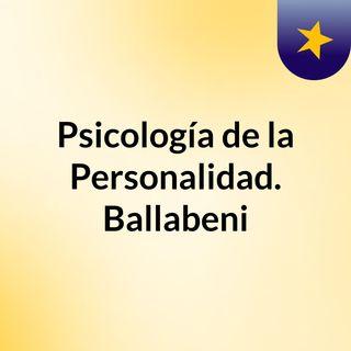 Psicología de la Personalidad. Ballabeni