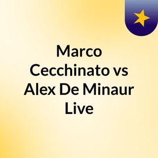 Marco Cecchinato vs Alex De Minaur Live