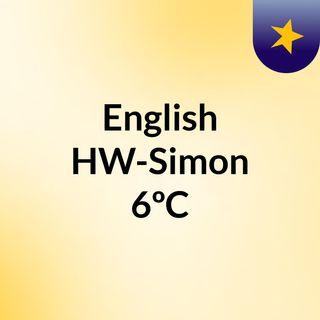 English HW-Simon 6ºC