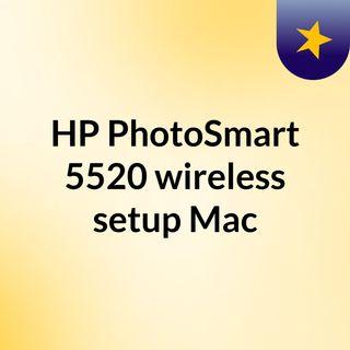 HP PhotoSmart 5520 wireless setup Mac