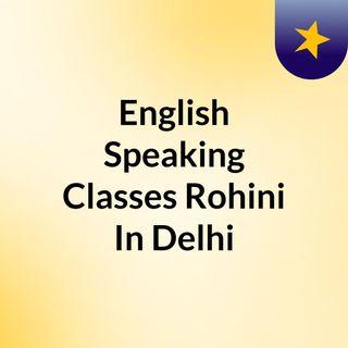 English Speaking Classes Rohini In Delhi