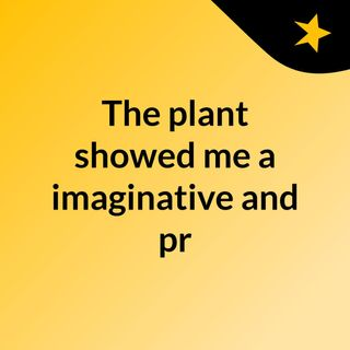 The plant showed me a imaginative and pr