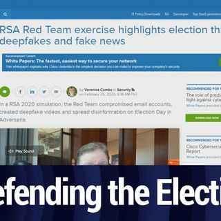 RSA 2020: Preparing to Defend the Election | TWiT Bits
