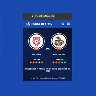 Punjab Kings vs Kolkata Knight Riders, 21st Match IPL 2021