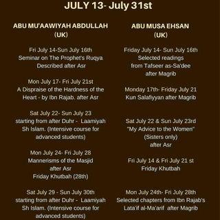 Abu Mu'aawiyah & Ehsan Seminar July 2017
