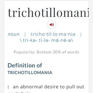 My trichotillomania story