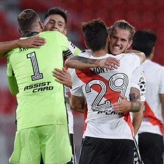 River se impuso por 2 a 0 sobre Nacional en el encuentro de ida de los cuartos