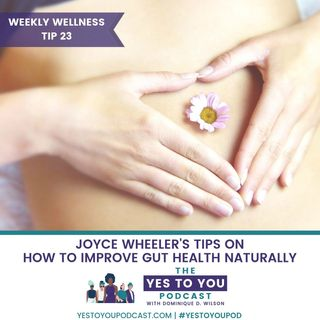 How To Improve Gut Health Naturally with Joyce Wheeler | Weekly Wellness Tip #23