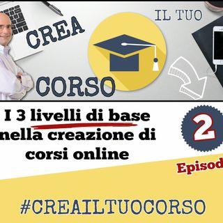 #02: I 3 livelli di base nella creazione di corsi online