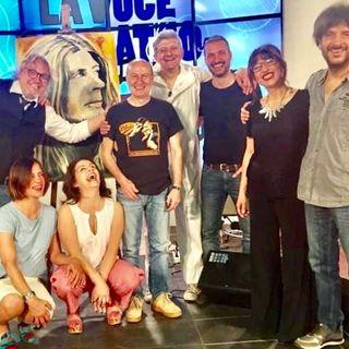 Banfi, Bazzari, Casucci con il maestro ritrattista rock Carlo Montana