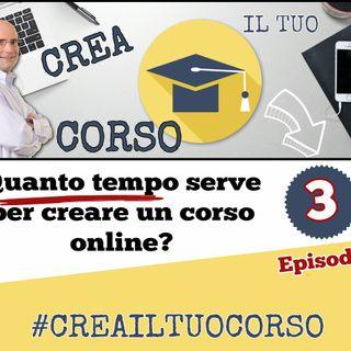 #03: Quanto tempo serve per creare un corso online?