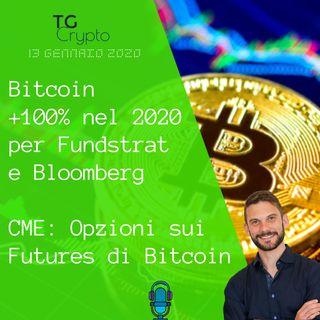 Bitcoin +100% nel 2020 per Fundstrate Bloomberg | CME: Opzioni sui Futures di Bitcoin