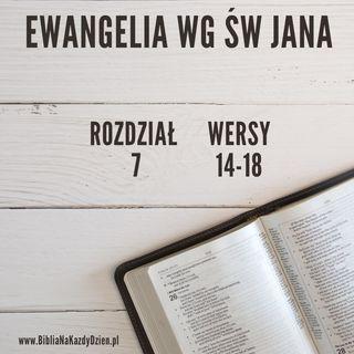 BNKD Ewangelia św. Jana - rozdział 7 wersy 14-18