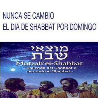 Nunca los Apostoles cambiaron el Shabbat por el Domingo