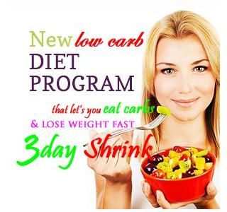 3 Day Shrink Rapid Weight Loss Plan - Lose 10 LBS in 3 Days
