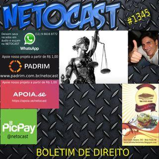 NETOCAST 1345 DE 04/09/2020 - BOLETIM DE DIREITO