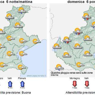 Previsioni meteo 5-7 settembre: tempo soleggiato ma lunedì in arrivo instabilità