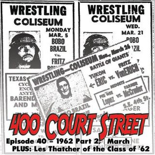 400 Court Street -  Our look at 1962 continues and a conversation with Les Thatcher