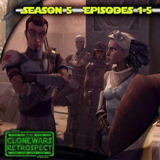 Darth Maul Vs Obi Wan Saga Begins : Clone Wars Retrospective Season 5 : 1-5