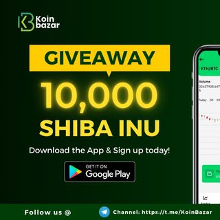 Download Koinbazar Crypto Exchange App And Get 10,000 Shiba Inu FREE!!!