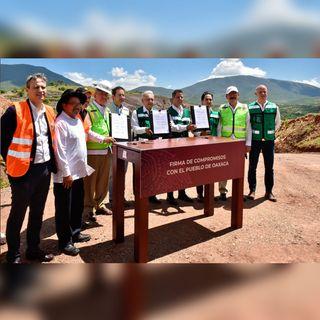 Afirma AMLO que concluirá autopista en Oaxaca
