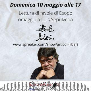 Lettura di favole di Esopo, omaggio a Luis Sepúlveda e Libri in dono a non-profit fiorentine