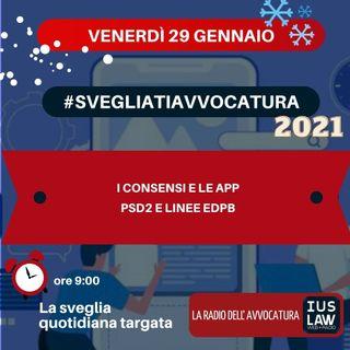 I CONSENSI E LE APP – PSD2 E LINEE EDPB – #SVEGLIATIAVVOCATURA