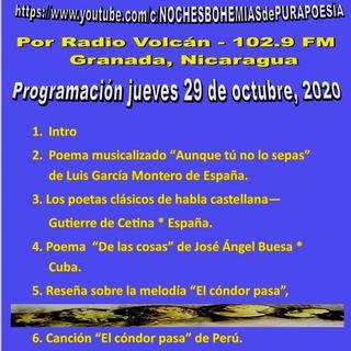 Radio Volcán - Segmento Cultural NBPP Jueves 29 de octubre, 2020