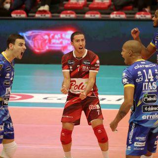 Giannelli, Nimir e Lorenzetti dopo il 3-0 a Piacenza