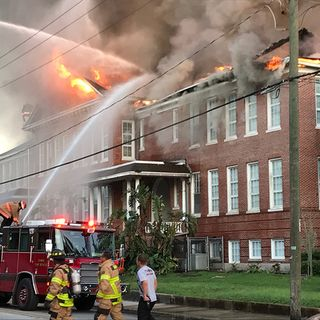 Historic R. E. Lee School Destroyed By Fire In Tampa