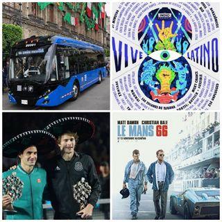 "Cartel Vive Latino 2020, Película ""Contra lo Imposible"", Federer en México, Trolebús CDMX."