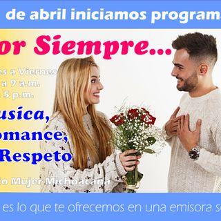 """"""" POR SIEMPRE """" la música romántica de Radio Mujer. HOY grupo """"CULTURA PROFETICA"""""""