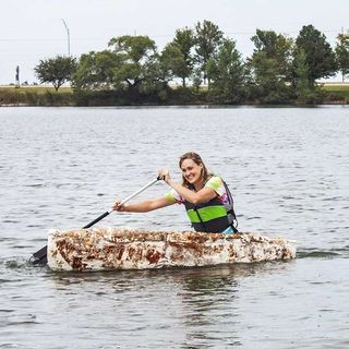 This student grew her own canoe out of mushrooms (written and read by Ben Gray)