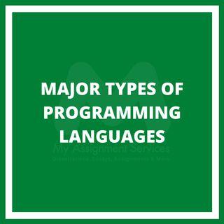 Major Types Of Programming Languages