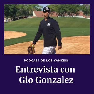 Entrevista con Gio Gonzalez, lanzado para la AAA de los Yankees